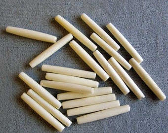 """20 Pieces 1"""" Thin Bone Hair Pipe, Native American Crafts"""