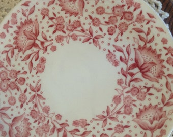 "Reserved Rare Vintage Set of (4)  Carefree True China by Syracuse ""MAYFLOWER""   8"" Luncheon Plates, great  condition"