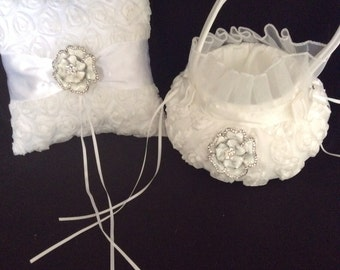 Flower Girl Basket - Ring Pillow Set