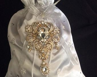 Bridal Money Bags,  Money Dance Bags, Wedding Purse, Wedding Bags, Satin Bridal Bags