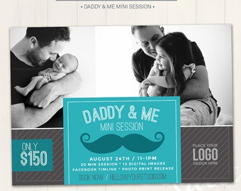 Father's Day Mini Session Marketing Board / Photography Marketing Board - Photoshop Template for photographers (DM28) - INSTANT DOWNLOAD