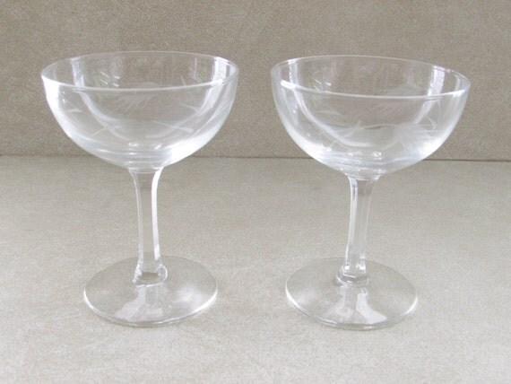 lunettes vintage de coupe champagne cristal sasaki japonais. Black Bedroom Furniture Sets. Home Design Ideas