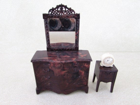 Vintage Renwal Dollhouse Bedroom Furniture By Foxlanevintage