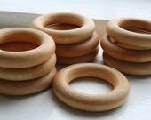 25 Wooden Teething Rings ...