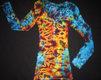 Psychedelic Long Sleeve Tee, Junior Size Small