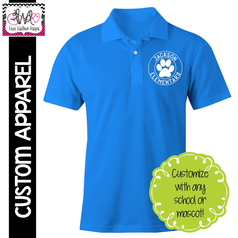 Custom apparel custom school spirit polo sports shirt for Custom sports team shirts