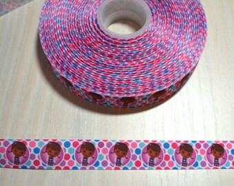 7/8 inch Grosgrain Ribbon - Doc McStuffins