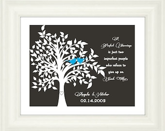 Custom Wedding Print-Wedding Gift-A perfect marriage is just two imperfect people who refuse to give up on each other-Anniversary Gift