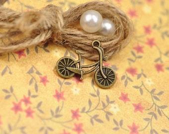 25 pcs of antique bronze bicycle bike pendant  length  26x19mm