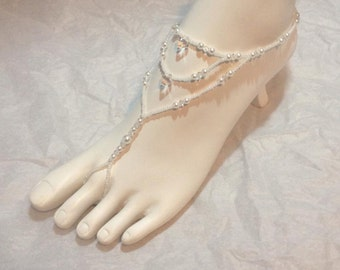 Pearls and Crystals Barefoot Sandals