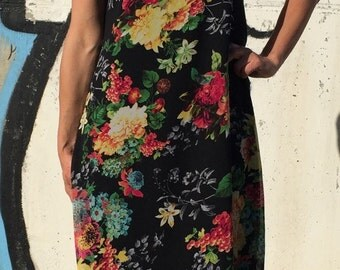Extravagant Dress/Oversize Midi Dress/Loose Floral Dress/Day Dress/Party Dress/Summer Dress