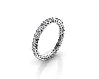0.50 CT. Diamond Eternity Ring With Open Gallery In White Gold