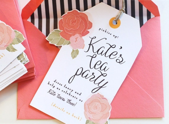 invitations to a tea party