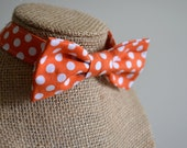 Orange Polka Dot Bow Tie for Boys, NB to 2 years, Ready to Ship