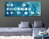Painting Acrylic, Wall Decor, Cirkel Line Landscape, Canvas Wall art, On canvas, Original Hand Made, Abstract Painting, Modern Artwork
