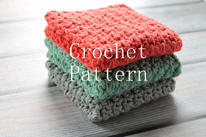 Crochet pattern crochet washcloth pattern crochet dishcloth this is a digital file bankloansurffo Choice Image