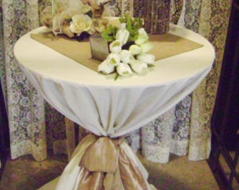 "20"" X 20""  BURLAP TABLE Square Squares Topper Overlay Centerpiece for Rustic Wedding Reception Decor 14 X 14"
