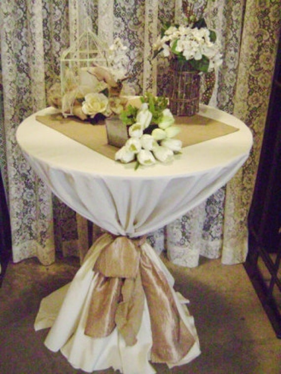 20 x 20 burlap table square squares topper for Wedding ceremony table decorations