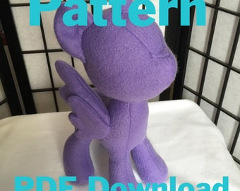 My Little Pony PATTERN instant download, pony plush pattern with instructions, mlp plush pattern
