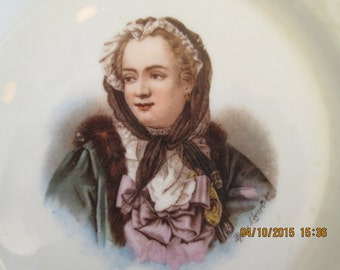 Portrait plate of Queen Marie Leczinska
