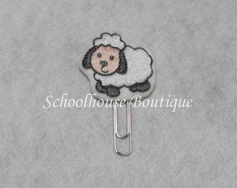 Sheep felt paperclip bookmark, felt bookmark, paperclip bookmark, feltie paperclip, christmas gift, teacher gift