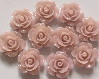 10 pcs 15 mm cabochon Flower,Light Thistle,resin flower,thistle rose cabochon,15 mm Thistle cabochon,rose flower,cabochon flower,flower kit,