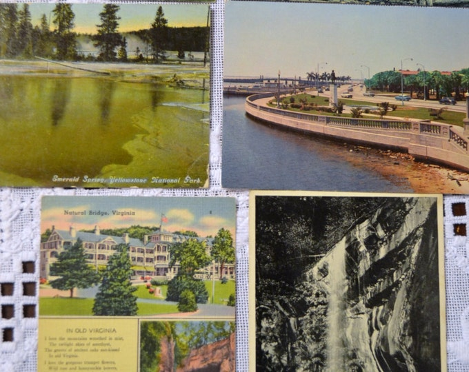 Vintage Postcard Set of 6 Tennessee Florida England Mississippi Virginia VariousTravel Souvenirs PanchosPorch