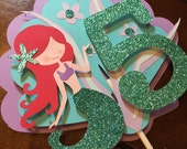 Mermaid cake topper.