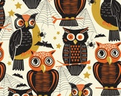 Spooktacular Eve Who's There Ivory by Maude Ashbury for Blend Fabrics, 1/2 yard