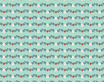Vintage Market - Vintage Vine Mint by Tasha Noel for Riley Blake Fabrics, 1/2 yard, C4565-Mint