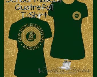Youth Quatrefoil Two Side School Mascot Shirt