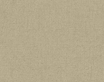 One Yard Olivia - Linen Texture in Taupe - Cotton Quilt Fabric - by Michele D' Amore for Benartex Fabrics - 4639-79 (W2574)