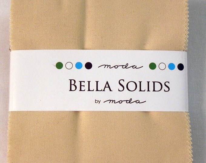 "BELLA SOLIDS Charm Pack in Natural - (42) 5"" x 5"" Squares - Cotton Quilt Fabric Precuts - Moda Fabrics - 9900PP-12 (W2736)"