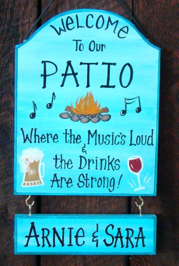 Items Similar To Custom Patio Backyard Sign For Home Party