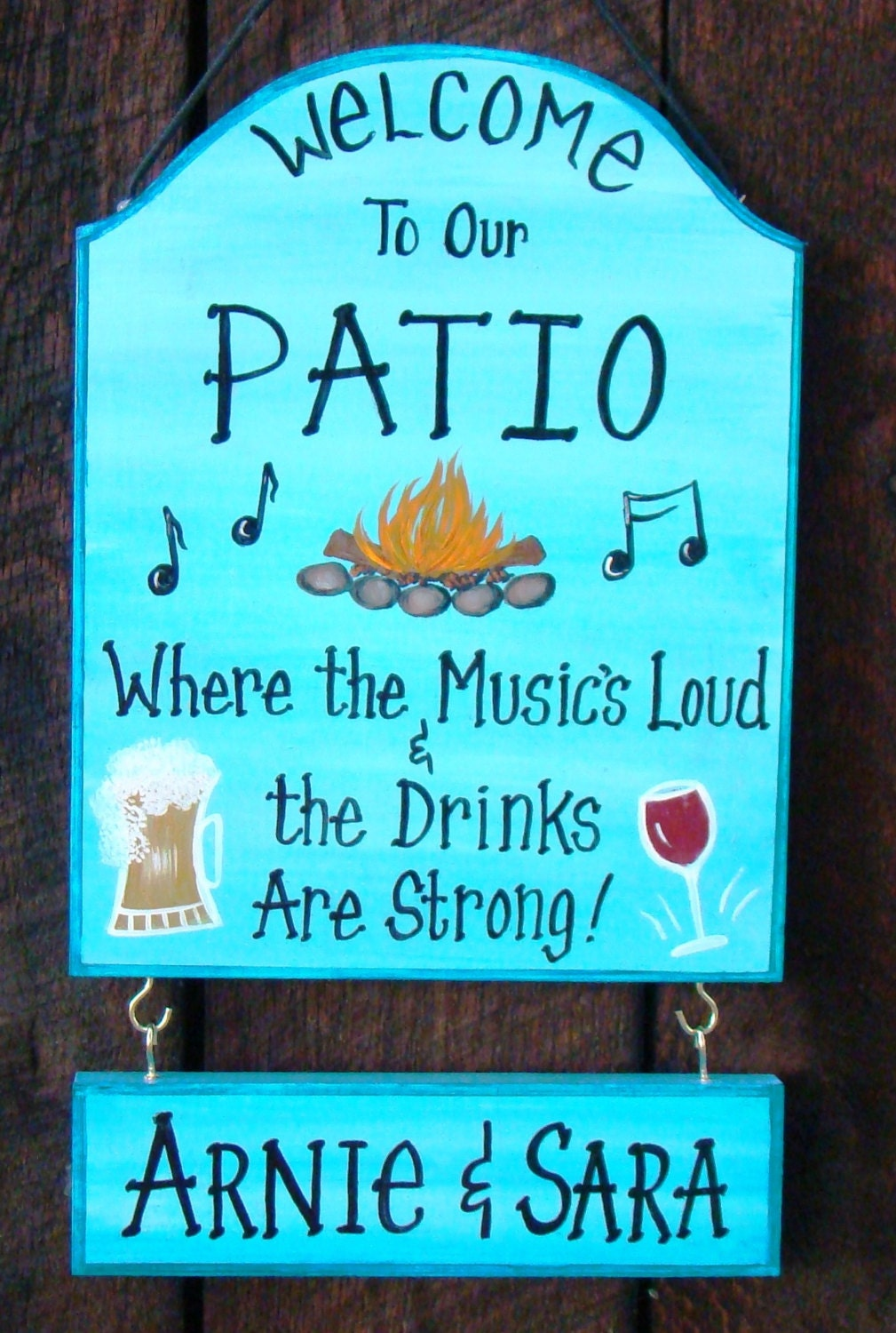 Custom Patio Backyard Sign For Home Party By Creativedesigns77