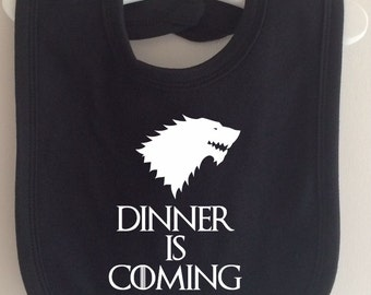 Dinner is Coming Bib - Take on Winter is Coming Game of Thrones