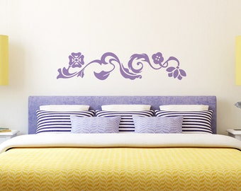Wall decal FLOWER TWIRL wall stickers for living room,bedroom,kitchen,vinyl decal,vinyl stickers,wall murals