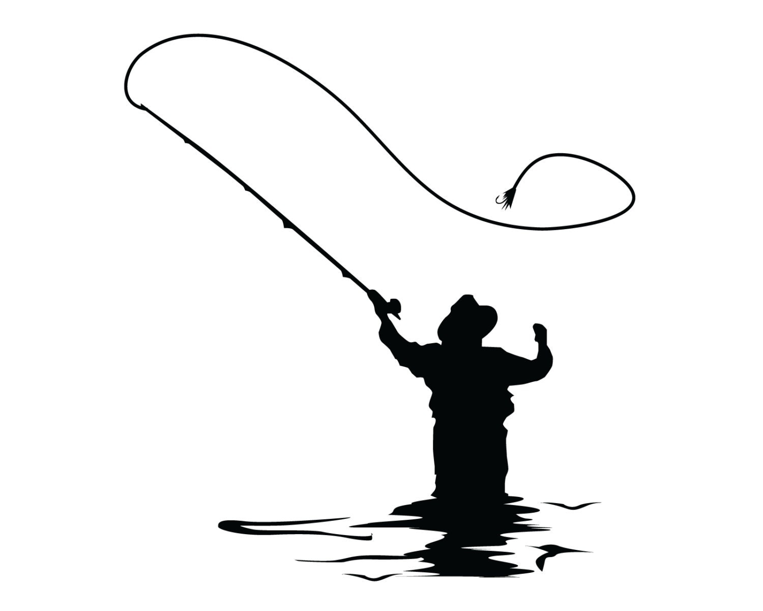 fly fishing decal fly fish sticker outdoorsman flyfishing