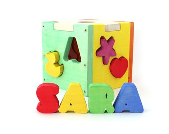 Baby Toy - Baby Gift - Shape Sorter - Montessori Baby Toy - Wooden Toy