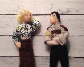 Normero The Bates Motel Norma Bates and sheriff Romero collectible posable dolls TWO dolls special edition LIMITED