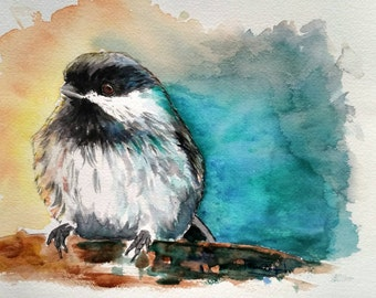 Original Signed Watercolor and Ink