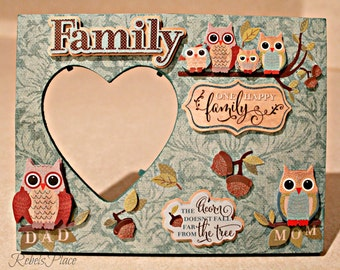 Owl Family Pictures  Frame