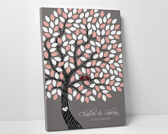 Custom Wedding Guest Book // Unique Wedding Guestbook // Wedding Tree Guestbook // Canvas or Regular Print // 100-300 Guests
