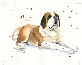 Sanit Bernard Watercolor