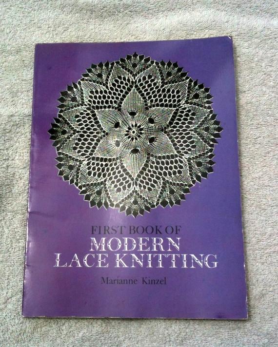 Modern Knitting Pattern Books : Vintage Lace Knitting Book Dover Modern Lace Knitting Lace Patterns Bedspread...