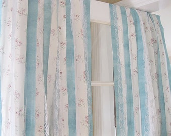 Shabby Chic Curtains | Bohemian Curtains | Handmade Gypsy Curtains | Set of 2 Panels