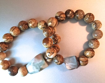 Brown Natural Stone Beaded Bracelets