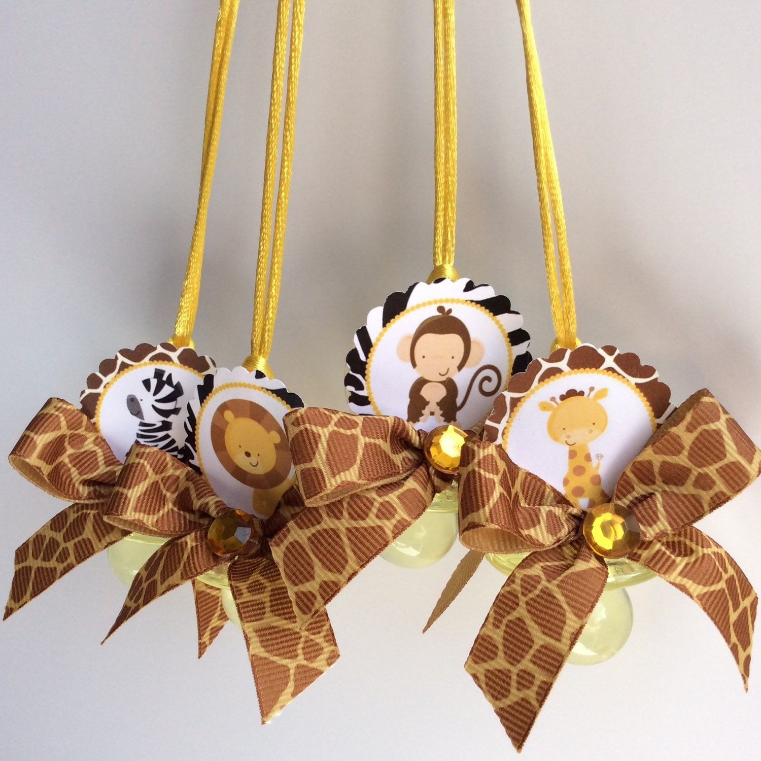 safari pacifiers game safari baby shower favors safari baby