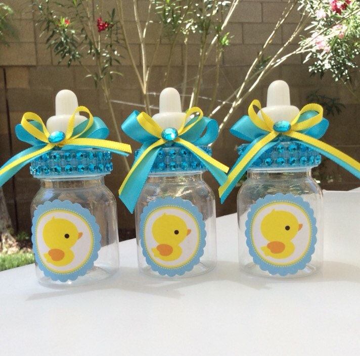 12 small 3 5 duck baby shower favors boy baby by marshmallowfavors
