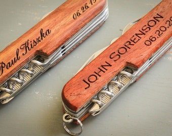 Personalized Knife, Custom Monogrammed Knife, Engraved Knife: Gift for Him, Stocking Stuffer, Father's Day, Groomsmen, Bachelor Party - GFT1